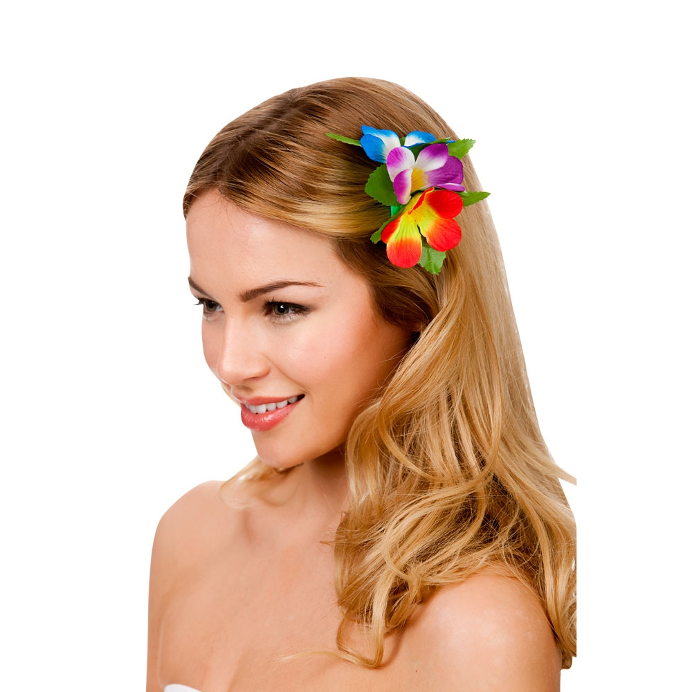 Hawaii Flower Hair Clip Multi Pageant Party