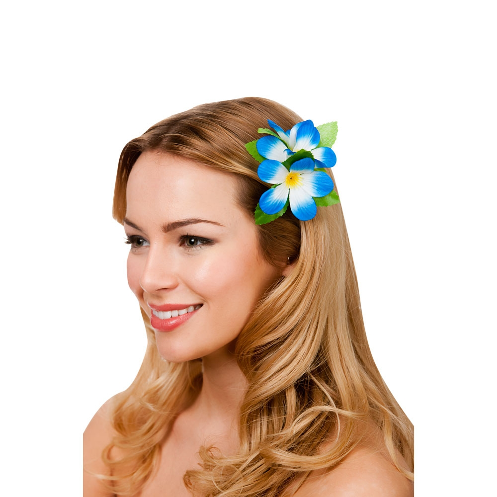 Hawaiian archives pageant party hawaii flower hair clip royal blue izmirmasajfo