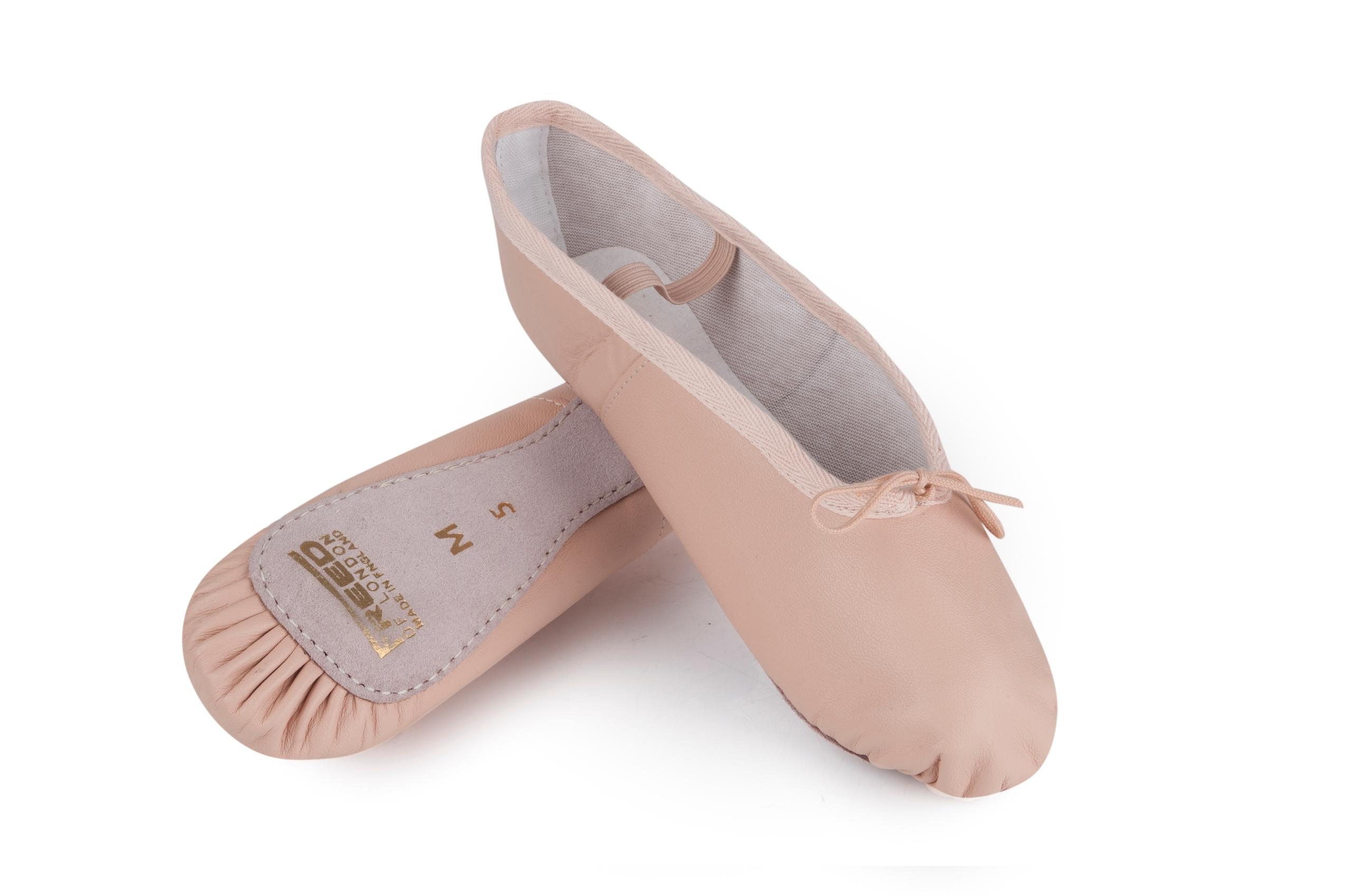 Pink Leather Canvas Ballet Shoes