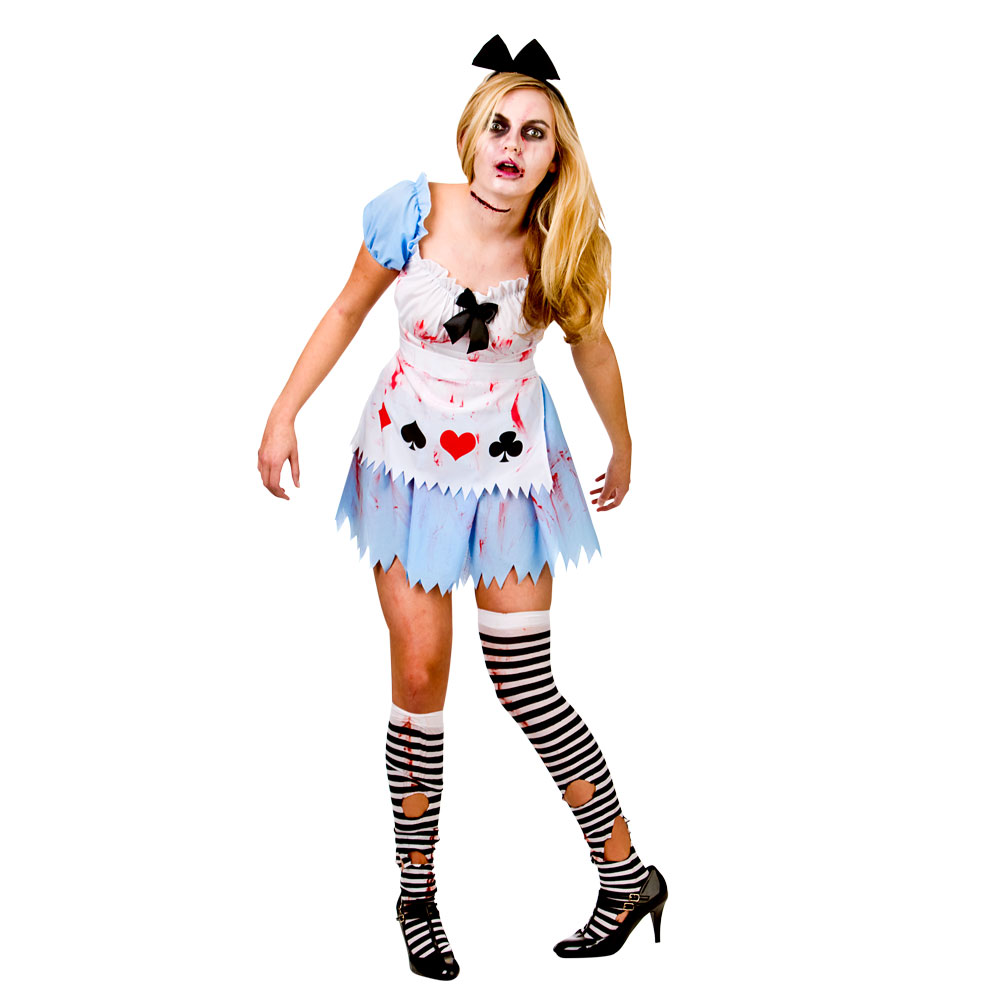 alice in zombieland costume halloween zombie alice pageant party. Black Bedroom Furniture Sets. Home Design Ideas