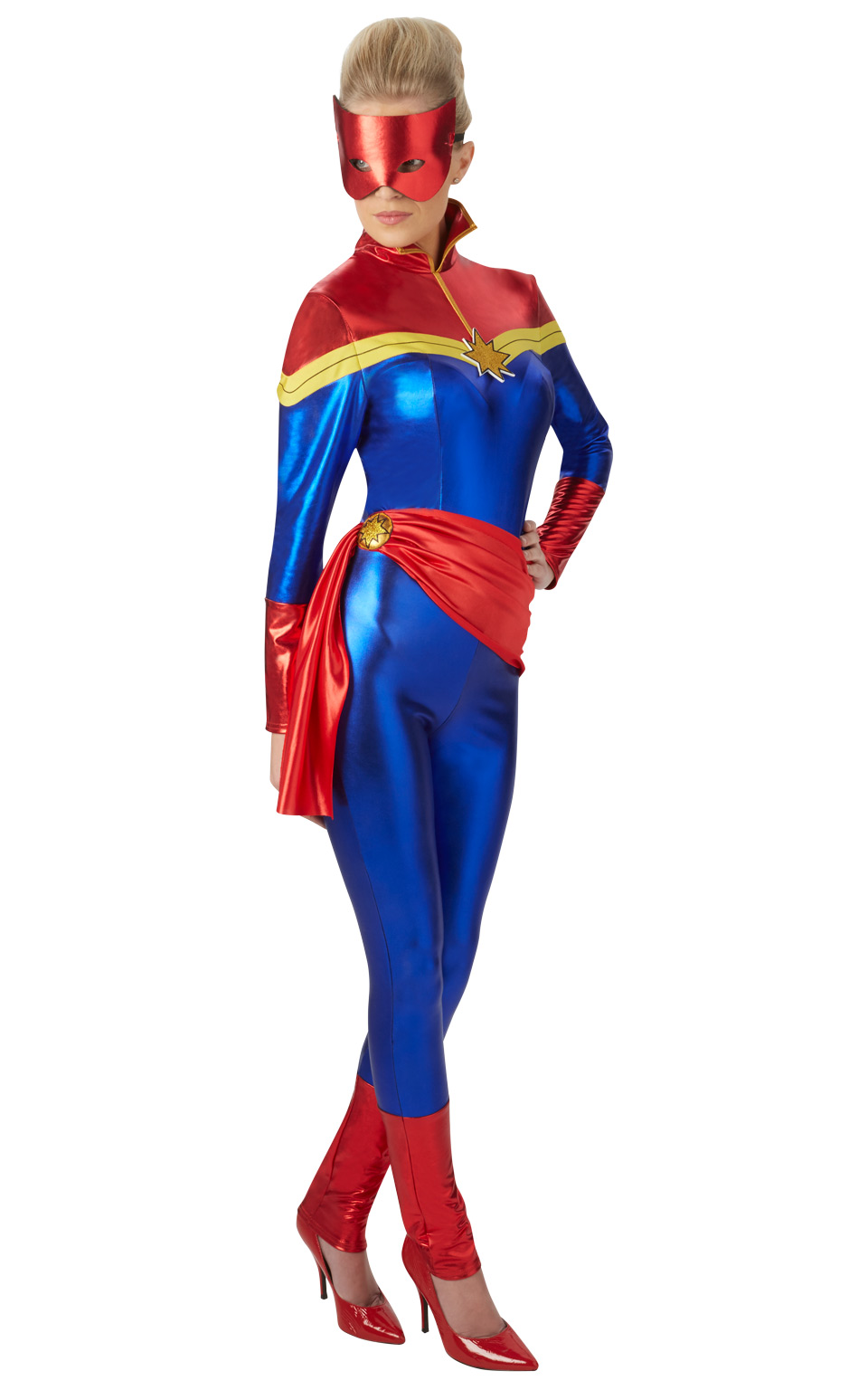 Captain Marvel Costume Adult Captain Marvel Pageant Party Get your courageous youngster ready for epic adventures as one of the universe's most powerful heroes in this awesome costume inspired by the forthcoming blockbuster, marvel's captain you may experience issues while visiting marvel shop with your current web browser version/configuration. captain marvel costume